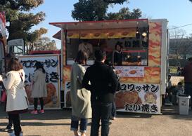 大阪城天守閣にてキッチンカー出店